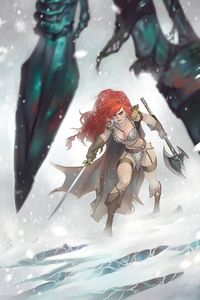 [Red Sonja: Age Of Chaos #5 (Hetrick Virgin Variant) (Product Image)]