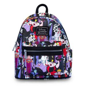 [Disney: Loungefly Faux-Leather Backpack: Disney Villains (Product Image)]