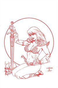 [Red Sonja #26 (Premium Linsner Tint Virgin Variant) (Product Image)]