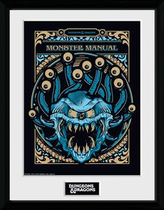 [Dungeons & Dragons: Framed Print: Monsters Manual (Product Image)]