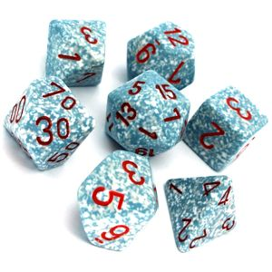 [Dice: Speckled Poly-7: Set Air (Product Image)]