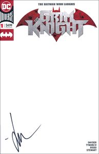 [Batman Who Laughs: The Grim Knight #1 (Blank Variant Signed Edition) (Product Image)]