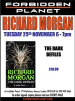 [Richard Morgan Signing The Dark Defiles (Product Image)]