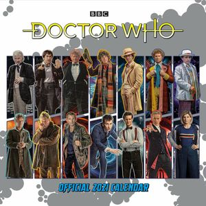 [Doctor Who: Classic Edition 2021 Square Wall Calendar (Product Image)]
