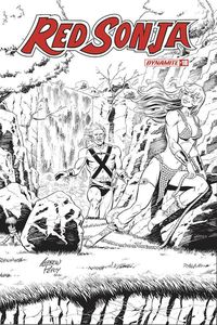 [Red Sonja #18 (Pepoy Seduction Black & White Variant) (Product Image)]