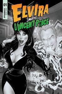 [Elvira Meets Vincent Price #1 (Cover J Royle Black & White Variant) (Product Image)]