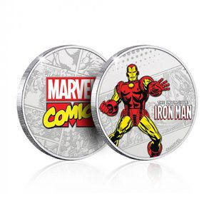 [Marvel: .999 Silver Plated Coin: Iron Man (Product Image)]