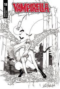 [Vampirella #18 (Gunduz Black & White Variant) (Product Image)]