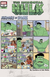 [Immortal Hulk #37 (Gurihiru Heroes At Home Variant) (Product Image)]