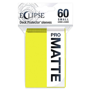[Eclipse: Pro Matte: Small Deck Protector Sleeves: Lemon Yellow (60) (Product Image)]