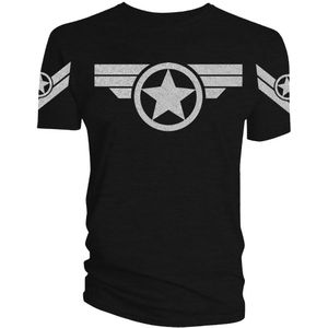 [Marvel: T-Shirts: Captain America Super Soldier (Silver) (Product Image)]