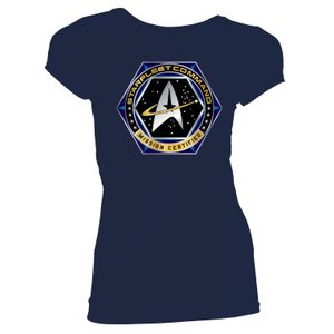 [Star Trek: Voyager: Women's Fit T-Shirt: Starfleet Command (Navy) (Product Image)]