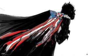 [DC: Large Giclee Print: All Star Batman 'Flag' by Jock (Signed Limited Edition) (Product Image)]
