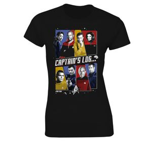 [Star Trek: Women's Fit T-Shirt: Captain's Log (Product Image)]