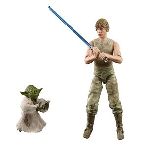 [Star Wars: The Empire Strikes Back: Black Series Deluxe Action Figure Set: Luke & Yoda (Product Image)]