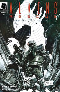[The cover for Aliens: Rescue #1 (Cover A De La Torre)]