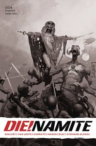 [Die!Namite #4 (Suydam Living Dead Grayscale Variant) (Product Image)]