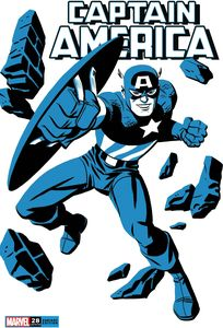 [Captain America #28 (Michael Cho Captain America Two-Tone Variant) (Product Image)]
