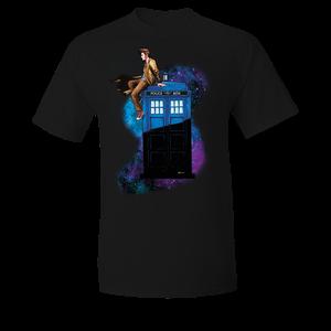 [Doctor Who: T-Shirt: Ten On TARDIS (Product Image)]