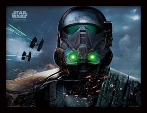 [Rogue One: A Star Wars Story: Framed Print: Death Trooper Glow (Product Image)]