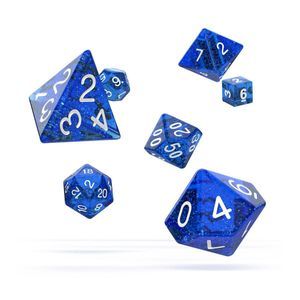 [Oakie Doakie Dice: RPG 7 Set: Speckled Blue (Product Image)]