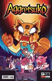 [The cover for Aggretsuko #1 (Cover A Cannon)]