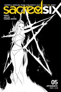 [Sacred Six #5 (Lee Black & White Variant) (Product Image)]