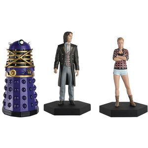 [Doctor Who Figurine Collection: Companion Set #9: 8th Doctor, Lucie Miller & Dalek (Product Image)]
