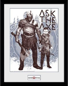 [God Of War: 30x40 Framed Print: Ask The Axe (Product Image)]