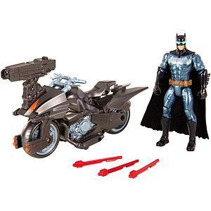 [Justice League: Action Figure Set: Batman & Batcycle (Product Image)]