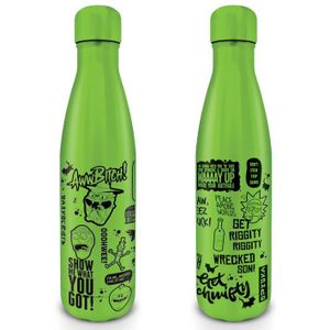 [Rick & Morty: Metal Drinks Bottle: Quotes (Product Image)]