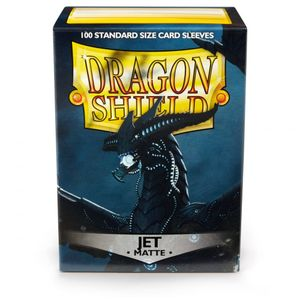 [Dragon Shield: Card Sleeves: Matte Jet (Box Of 100) (Product Image)]