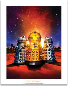 [Doctor Who: Time Lord Victorious: Art Print: Daleks! Animation (Product Image)]