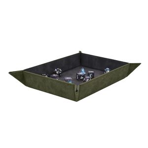 [Foldable Dice Rolling Tray: Emerald (Product Image)]