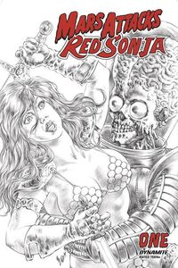 [Mars Attacks/Red Sonja #1 (Quah Black & White Variant) (Product Image)]