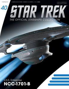 [Star Trek: Starships Figure Collection Magazine #40 USS Enterprise NCC1701B (Product Image)]