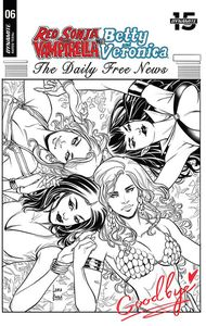 [Red Sonja & Vampirella Meet Betty & Veronica #6 (Braga Black & White Variant) (Product Image)]