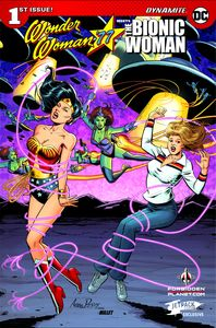 [Wonder Woman/Bionic Woman '77 #1 (Jetpack Forbidden Planet Variant) (Product Image)]
