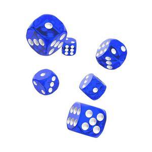 [Oakie Doakie Dice: D6 Dice 12 Set: Translucent Blue (Product Image)]