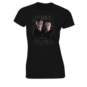 [Doctor Who: Women's Fit T-Shirt: Beware The Silence (Product Image)]