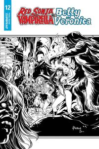 [Red Sonja & Vampirella Meet Betty & Veronica #12 (Braga Black & White Variant) (Product Image)]