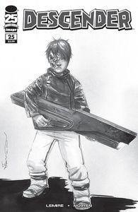 [Descender #25 (Cover D B&W Walking Dead #104 Tribute Variant) (Product Image)]
