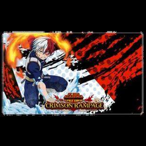 [My Hero Academia: Collectible Card Game: Playmat: Series 2: Crimson Rampage: Shoto Todoroki (Product Image)]