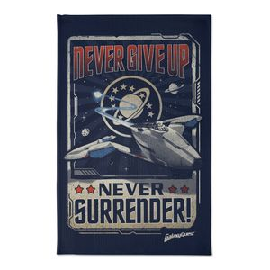 [Galaxy Quest: Tea Towel: Never Give Up, Never Surrender! (Product Image)]