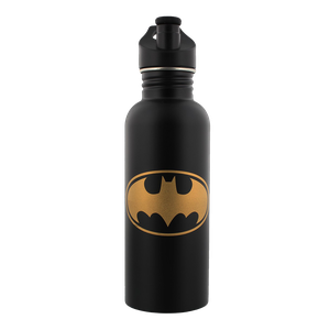 [DC Comics: Metal Water Bottle: Batman Bat Symbol (Product Image)]