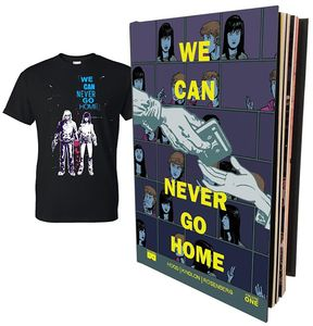 [We Can Never Go Home: Volume 1 (Hardcover & T-Shirt Bundle - Medium) (Product Image)]