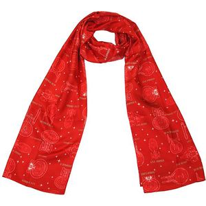 [Star Trek: Silk Scarf With Gift Box: Ships Of Line (Red) (Product Image)]