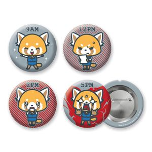 [Aggretsuko: 38mm Pin Badge Set: Another Day At The Office (Product Image)]