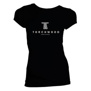 [Doctor Who: Women's Cut T-Shirt: Torchwood Institute Logo (Web Exclusive) (Product Image)]