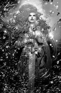 [Red Sonja: Black White Red #2 (Cover P Meyers Black & White Virgin Variant) (Product Image)]